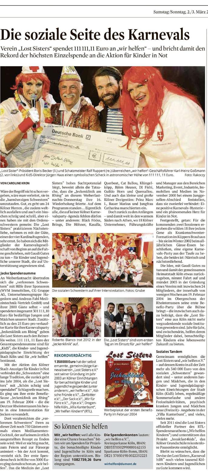 KstA2019 - Die soziale Seite des Karnevals